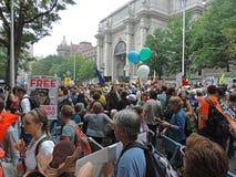 人民的气候2014年3月纽约 免版税库存照片