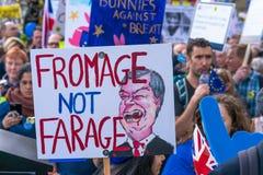 人民的表决3月在伦敦中部,英国 库存照片