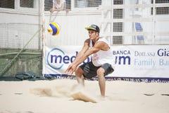 人沙滩排球球员 意大利全国冠军 免版税库存图片