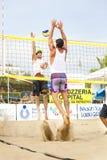 人沙滩排球球员 意大利全国冠军 图库摄影