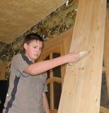 人油漆木头 免版税库存图片