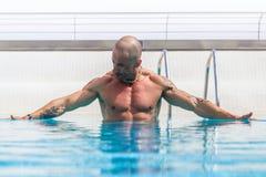 人游泳池 免版税库存照片
