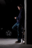 人滑板身分 图库摄影