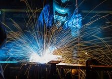 人焊接产业 库存照片