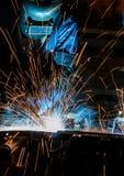 人焊接产业 免版税库存照片