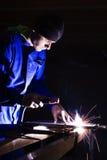 人焊接年轻人 免版税库存照片