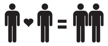 人爱人=在传染媒介例证的快乐夫妇爱 同性恋关系 库存例证