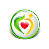 人爱护树木自然eco概念 免版税库存图片