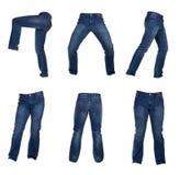 人牛仔裤拼贴画  免版税库存照片