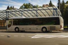 人狮子的雷希奥公共汽车 库存照片