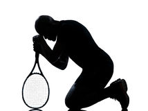 人球员网球 免版税图库摄影