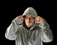 人用在拳头举的手 免版税图库摄影
