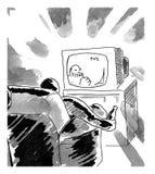 人电视注意 库存图片