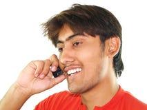 人电话年轻人 库存照片