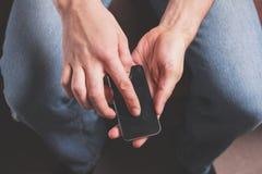 人电话聪明使用 免版税库存图片
