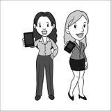 人男人和妇女企业股票传染媒介 向量例证