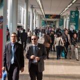 主人的人们2013年在米兰,意大利 库存图片