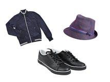 人的便衣和鞋子 免版税库存照片