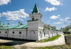 人的圣尼古拉斯修道院在Staraya拉多加 俄国 免版税库存照片