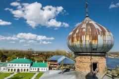 人的圣尼古拉斯修道院在Staraya拉多加 俄国 库存照片