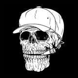 人的头骨,抽烟死 库存照片