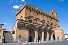 人的宫殿。 Orvieto。 翁布里亚。 意大利。 免版税库存照片