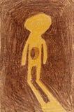 人的影子 免版税库存图片