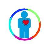 人的心脏在危险中 免版税图库摄影