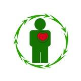 人的心脏处于危险中 免版税库存照片