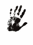 人的手印刷品例证 免版税库存图片