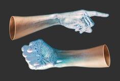 人的手变换对冰 库存照片