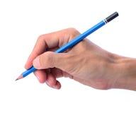 人的手和铅笔 免版税图库摄影