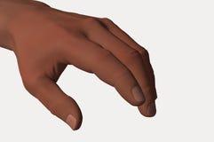 人的手手指 库存图片