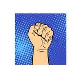 人的手拳头传染媒介例证 库存图片