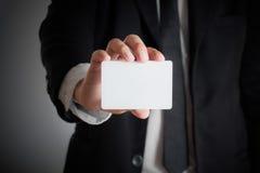 人的手演艺界卡片 免版税库存图片