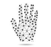 人的手的创造性的概念从分子的 库存图片