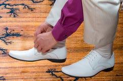 人的时尚 时髦的皮鞋 库存照片