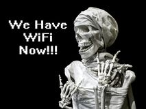 人的最基本的模型有题字的我们现在有wifi 在死亡以后的概念 未来的晚年 向量例证