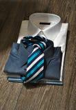 人的有领带的企业衬衣 免版税库存照片