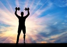 人的概念以在体育的伤残 库存图片