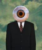人的眼珠,西装,领带 免版税库存图片
