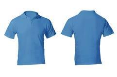 人的空白的蓝色球衣模板 库存图片
