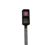 人的红绿灯能穿过路 库存图片