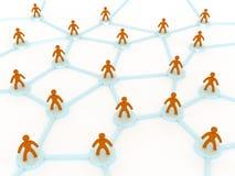 人的网络 向量例证