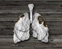 人的肺癌概念 图库摄影