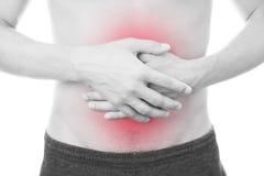 人的胃肠痛苦 库存图片