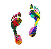 人的脚印 免版税库存图片