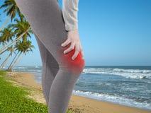 人的膝盖痛苦联接问题医疗医疗保健概念 免版税图库摄影