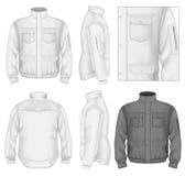人的飞行夹克设计模板 皇族释放例证