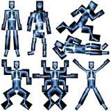 人的骨骼的汇集 免版税库存照片